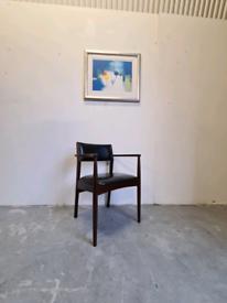 Danish Mid Century Teak Desk Chair
