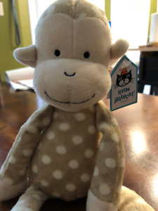 Baby toy - soft monkey stuffie with chime