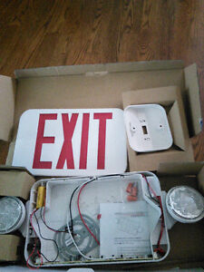 Exit Sign Light Combo