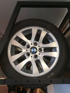 "BMW 328i OEM Winter Alloy 16"" Wheels and Blizzak Tires REDUCED"