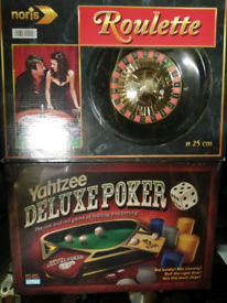 Deluxe poker and Roulette set