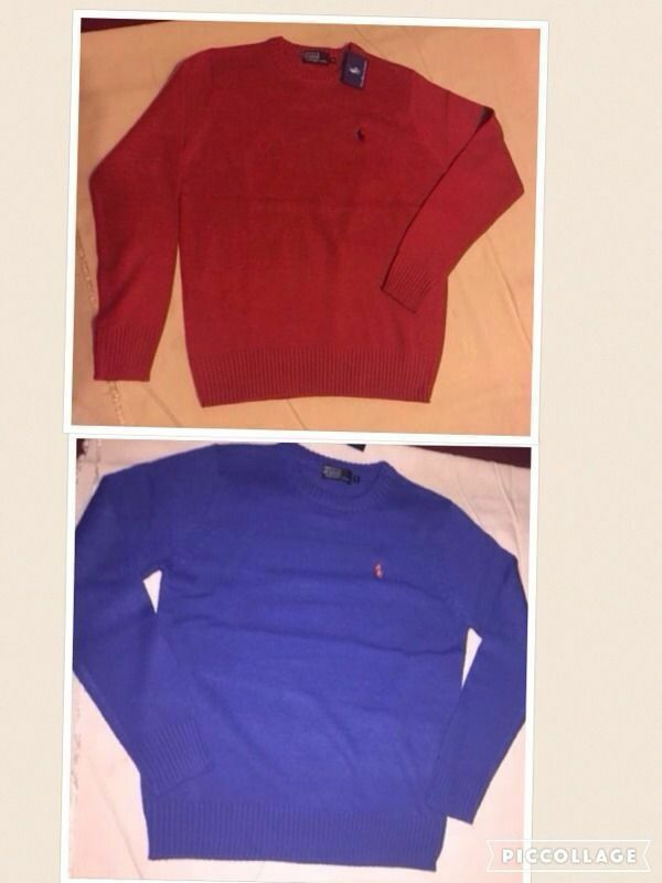 Ralph Lauren mens polo sweatshirts 2 for20 round neck light woolin Leicester, LeicestershireGumtree - Tel 07828655380. 2 for £20 Ralph Lauren mens polo sweatshirts round neck small pony long sleeves 2 colours Red. Blue Size L. XL. Prices £15 each or 2 for £20 If you are interest please contact me tel; or message. Whatsapp, email. I accept paypal...
