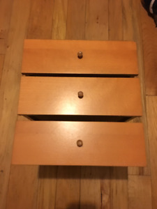 Maple Drawers with Fronts