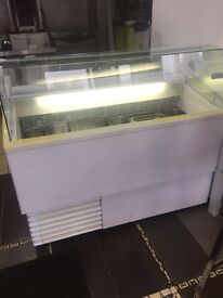 Ice Cream Freezer serve over counter type
