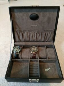 Watch Box with two Skeleton Watches.