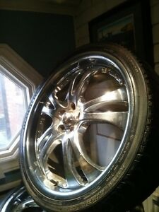 "4 -22"" american Racing Rims with tires"