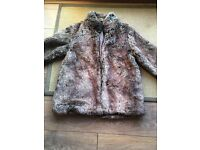 Ladies faux fur jacket size 14