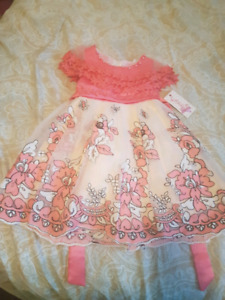 Girls beautiful dresses size 18to 24 and 2t