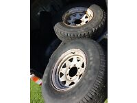 4x weller 6x139 steel wheels 4x4 with 235 75 15 tyres