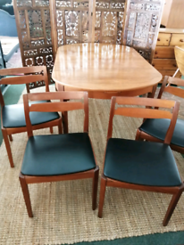Mid Century Nathan Extending Dining Table and Chairs