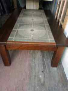 MARBLE INLAID COFFEE TABLE