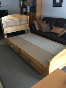 Twin captains bed - solid birch