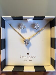 BNIB Kate Spade necklace and earring gift set