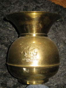 "Solid brass spittoon ""Pony Express""  $25"