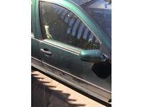 Volkswagen golf mk4 dark green driver door