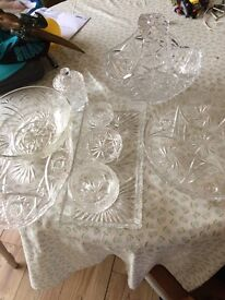 Beautiful collection of vintage cut glass in great condition