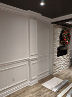 Crown Moulding, Trim, Baseboards, Wainscoting installation