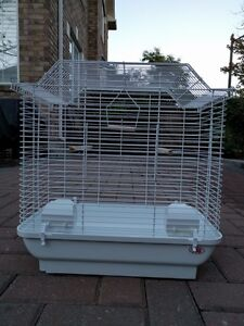 Bird Cage with Two Perches, a Swing & Two Feeding Cups LIKE NEW