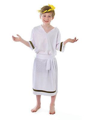 Boys Roman Toga Caesar Greek Childs Kids Fancy Dress Costume Outfit Book Week