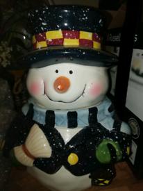 snowman cookie or sweetjar