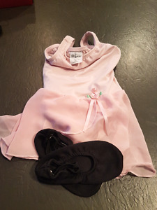 Girls dance body suit/skirt and shoes
