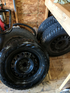 Jeep rims and tires .