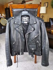 Jacket de cuir noir de marque Black Eagle Freeline