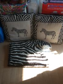 Zebra sofa decoration £5