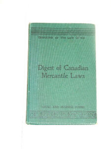 1906 book: Digest of Canadian Mercantile Laws