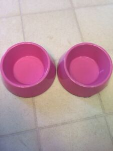 Pink Sparkle Doggie Dishes