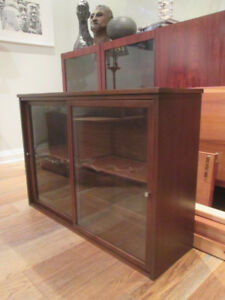 Small MCM Walnut Hutch