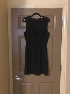 G by Guess black dress with gold belt
