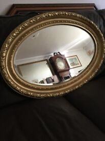Lovely antique gilt framed mirror