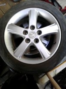 4 JANTES de Mazda Protégé 5+4 pneus été