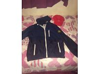 Stone Island men's small jacket and Lacoste cap