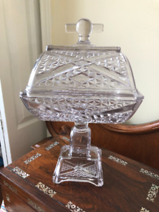 Beautiful Antique Pressed Glass Compote