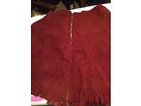 VINTAGE, Genuine 60s leather mini skirt.