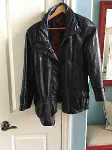 Daniers Black Leather Lamb Ladies Jacket Kitchener / Waterloo Kitchener Area image 1