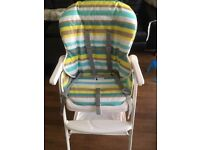 Joie highchair with tray