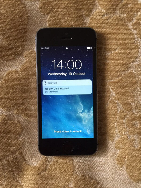iPhone 5S 16GB Space Grey Unlockedin Camden, LondonGumtree - iPhone 5S 16GB Space Grey Unlocked Mobile Smartphone Excellent condition No scratches Comes with box, black protective phone case, instructions, charger and headphones Has been upgraded to iOS 10 latest software Call Patrick Pickup in central London