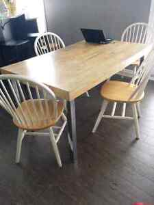 Table with 4 chairs $75 obo