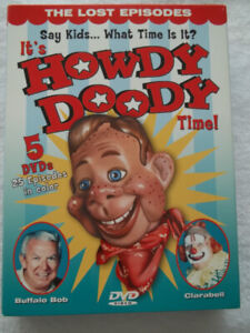 """It's Howdy Doody Time!""  5-DVD boxed movie set in a metal case"