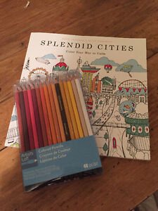 Colouring Book and Colour Pencils