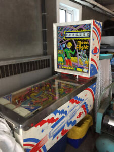 PINBALL Machine for sale - Moon Flight 1976 - by Zaccaria