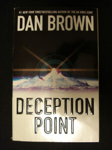 "Deception Point by Dan Brown (author of ""The Da Vinci Code"")"