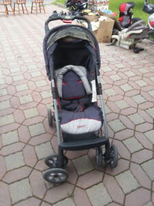 Gray with Red Safety 1st stroller