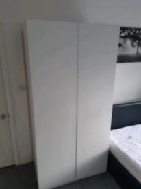 Large White Two-doors Wardrobe