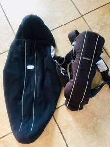 Baby Bjorn City Black Baby Carrier with Hooded Cover