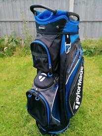 Taylormade Cart Bag Blue and Black