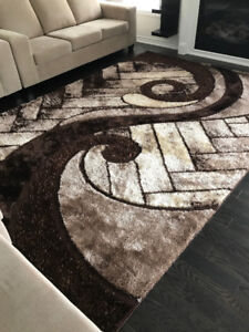 8x11 brown shag rug